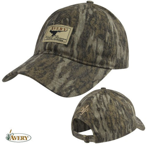 Avery Logo Oil Cloth Ball Cap Mossy Oak Bottomland