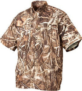 Drake Waterfowl Duck /Pigeon Shooters Shirt S/S Max 4 Camo (X Large)