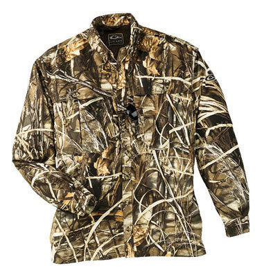 Drake Waterfowl Duck /Pigeon Shooters Shirt L/S Max 4 Camo (Large)