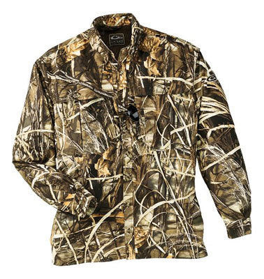 Drake Waterfowl Duck /Pigeon Shooters Shirt L/S Max 4 Camo (X Large)