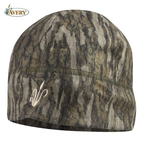 Avery Logo Fleece Skull Cap Mossy Oak Bottomland