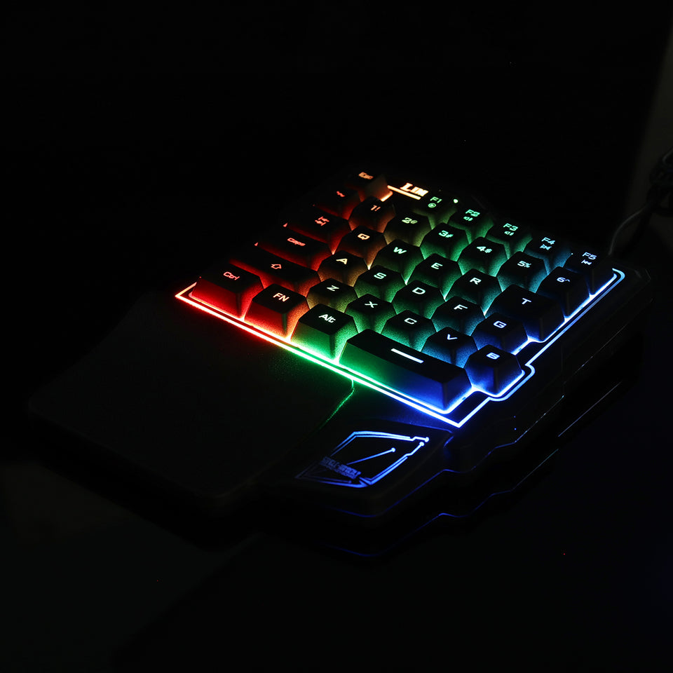 GK103 35 Keys LED Backlight Wired Single Hand Gaming Keyboard with Ergonomic Support Mechanical Feeling For PUBG and LOL Game - Anne Pro 2