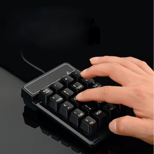 USB Wired 19Keys Numeric Keypad Mini Suspension Number Pad Keyboard for Laptop PC - Anne Pro 2