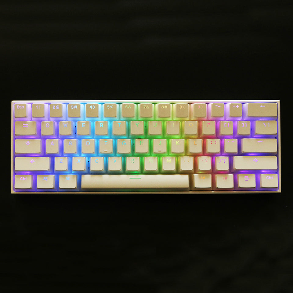 White Pudding Translucent Keycaps | 108 keys | PBT OEM - Anne Pro 2