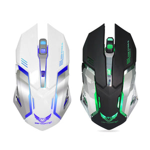 annepro2 - Zerodate 7 Colors 5 Buttons 2400DPI Rechargeable Wireless Backlight Ergonomics Optical Gaming Mouse - Anne Pro 2 -