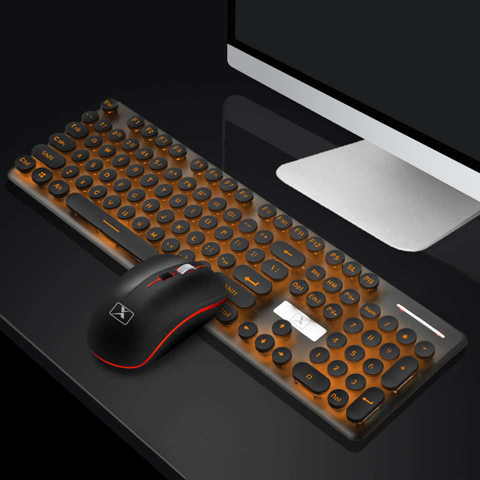 N528 | 104 Keys | Backlit | Rechargeable Wireless Gaming Keyboard + Mouse set - Anne Pro 2