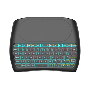 annepro2 - Mini I8 D8-S Silk screen Version wireless 2.4GHz keyboard MX3 Air Mouse (Black) - Anne Pro 2 -