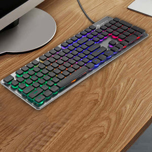 The Wolf Way | 104 Keys | Backlit Quiet Gaming Keyboard