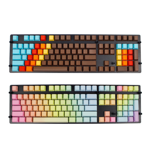 annepro2 - 108 Key PBT OEM Profile Rainbow / 1976 Blank Keycaps For MX Switches Mechanical Keyboard - Anne Pro 2 -