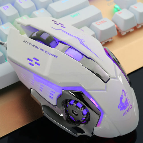 Free Wolf | 4000DPI 6 Button LED Optical Gaming Mouse | Mechanical Macro Programmable - Anne Pro 2