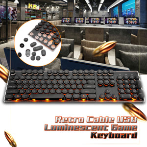 Retro Wired Gaming Mechanical Keyboard