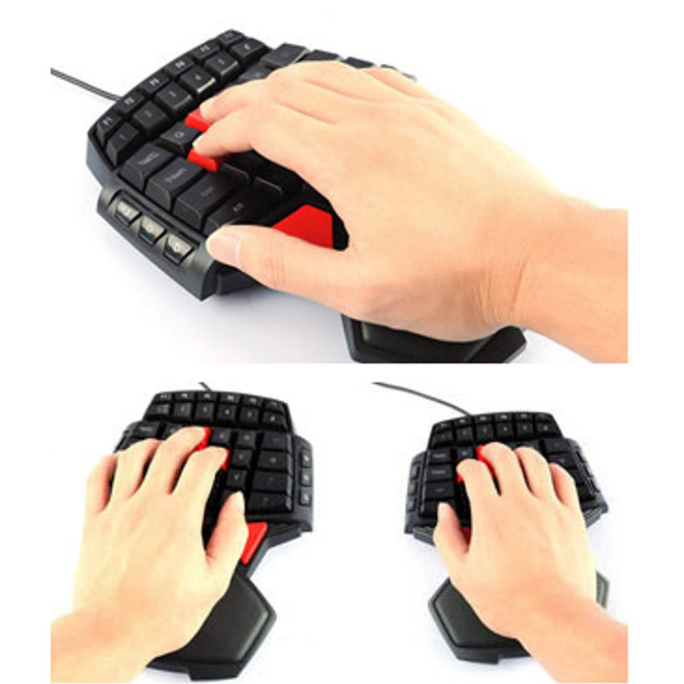 annepro2 - DeLUX T9 47 Key USB Wired Mini Single Hand Gaming Keyboard for PC Laptop - Anne Pro 2 -