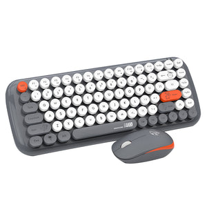 AJAZZ DOUYU DKS2000 86 Keys Wireless Chocolate Button Thin Film Keyboard and Mouse Combo - Anne Pro 2