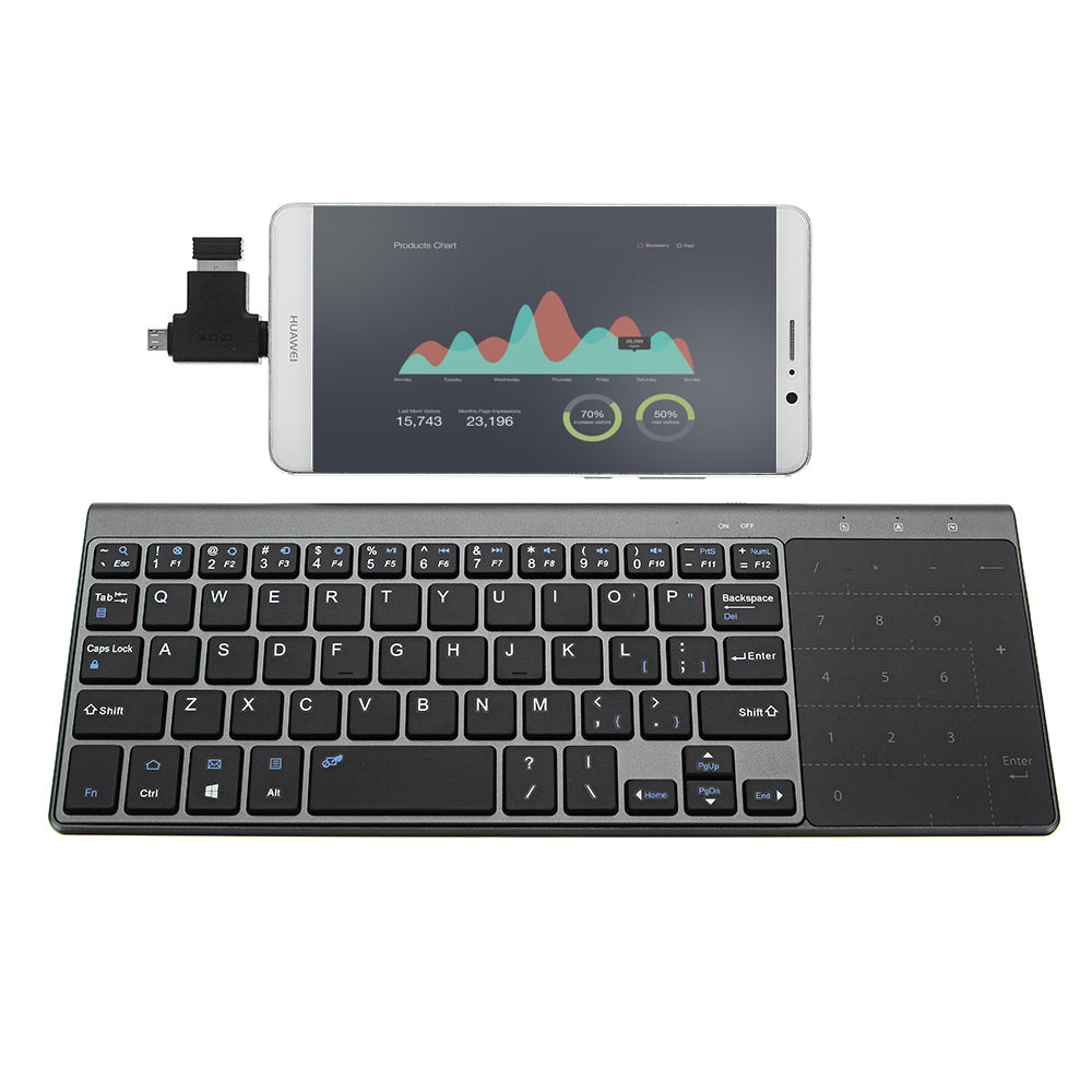 JP136 Ultra Thin  Wireless Keyboard with Touch Pad - Anne Pro 2