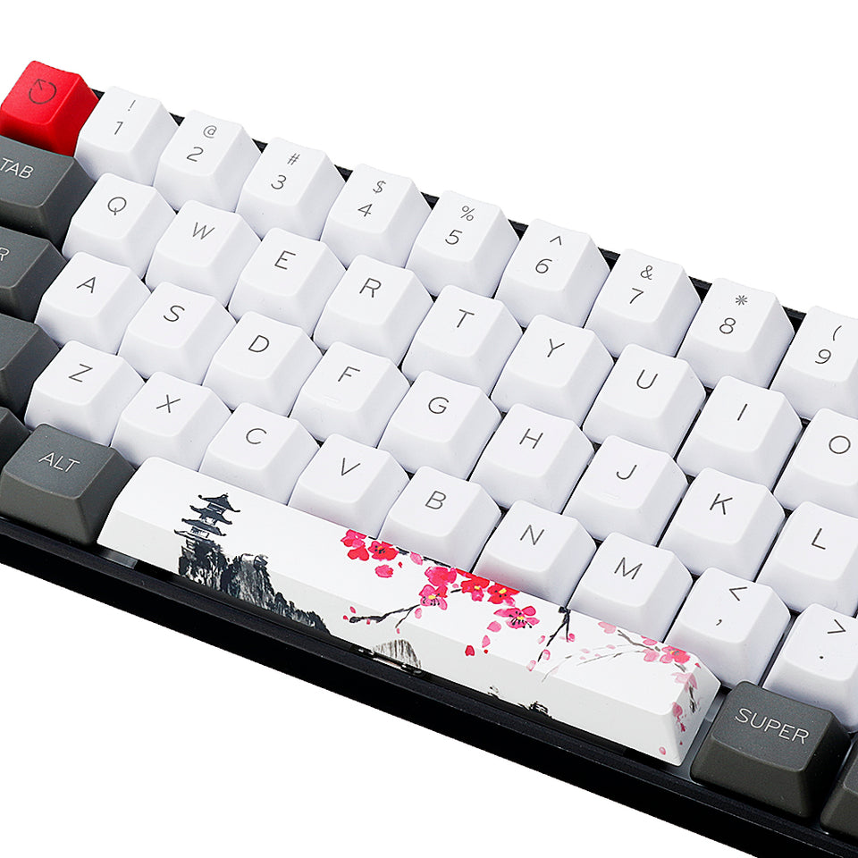 Five-sided Dyesub | PBT Pagoda | Plum Blossom Space Bar | 6.25u Novelty Keycap - Anne Pro 2