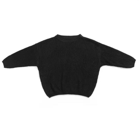 Oversized Knit Sweater Black