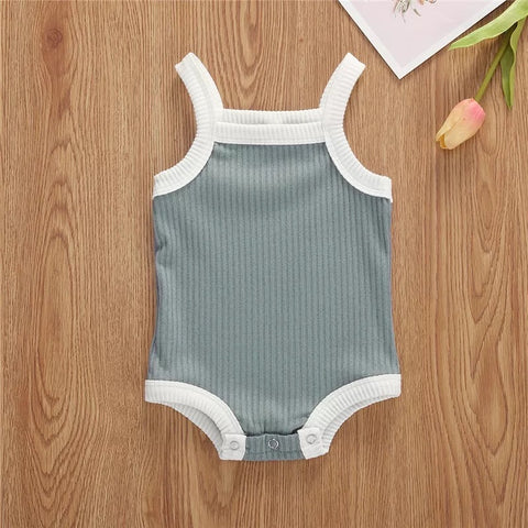 Ribbed Bodysuit | Blue Grey