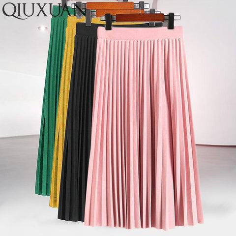 Lady Casual Stretchy Thicken Skirts