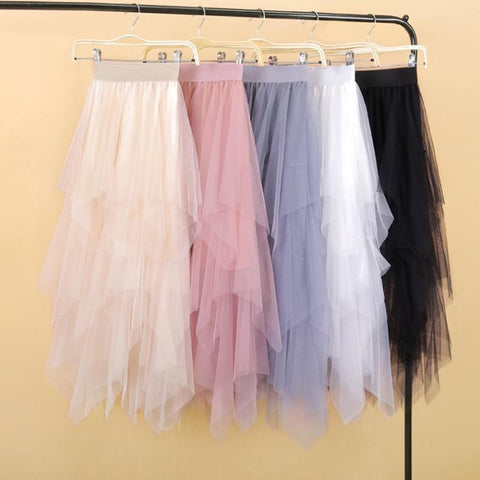 Women irregular Tulle Skirts