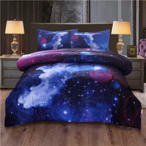 Outer Space Quilted Blanket Bed