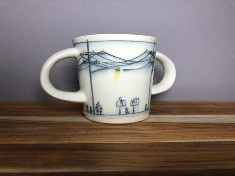 Double Handled Toddler Streetscape Mug