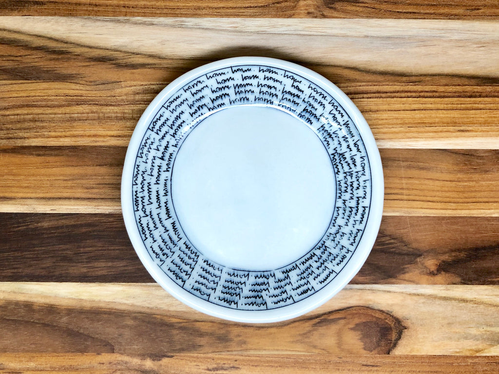 Small Home Text Plate