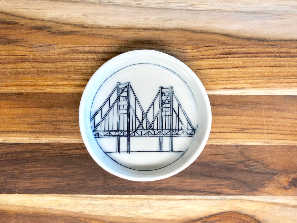 Golden Gate Bridge Teeny Tiny Round Dish