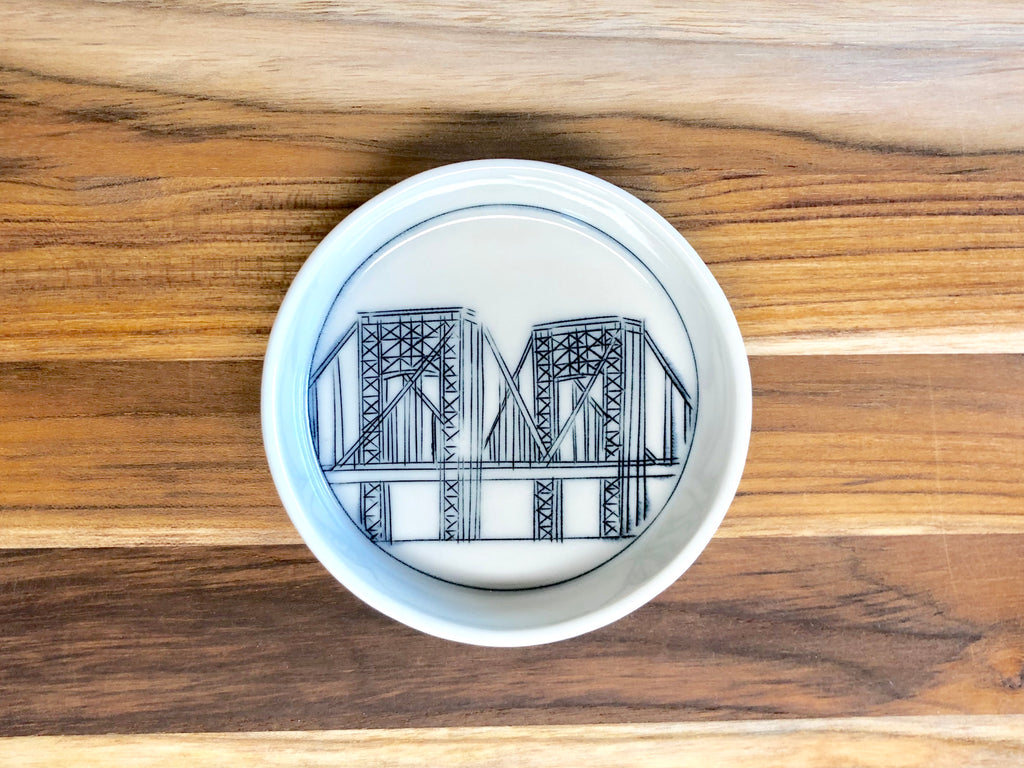 George Washington Bridge Teeny Tiny Round Dish