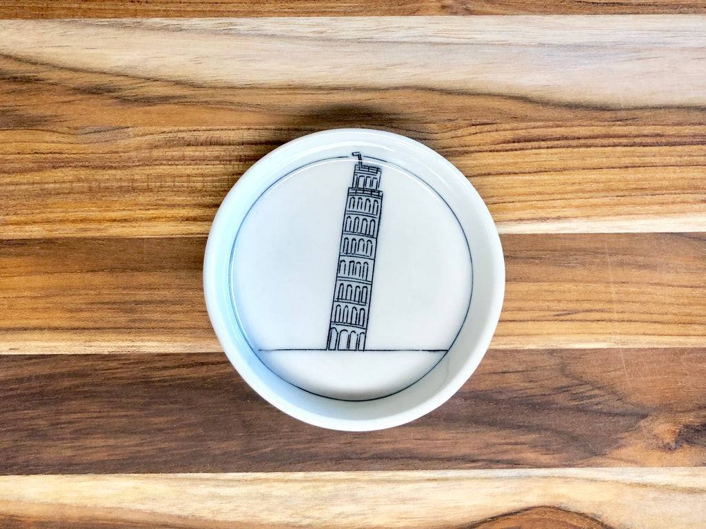 Leaning Tower of Pisa Teeny Tiny Round Dish