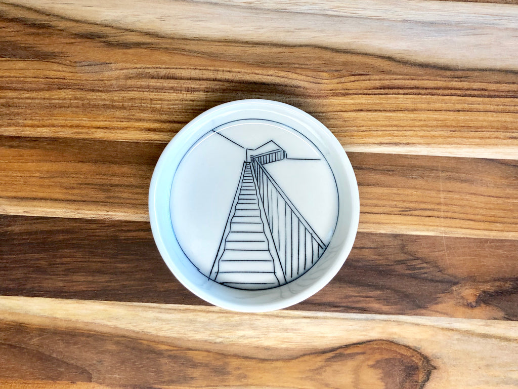 Staircase Teeny Tiny Round Dish