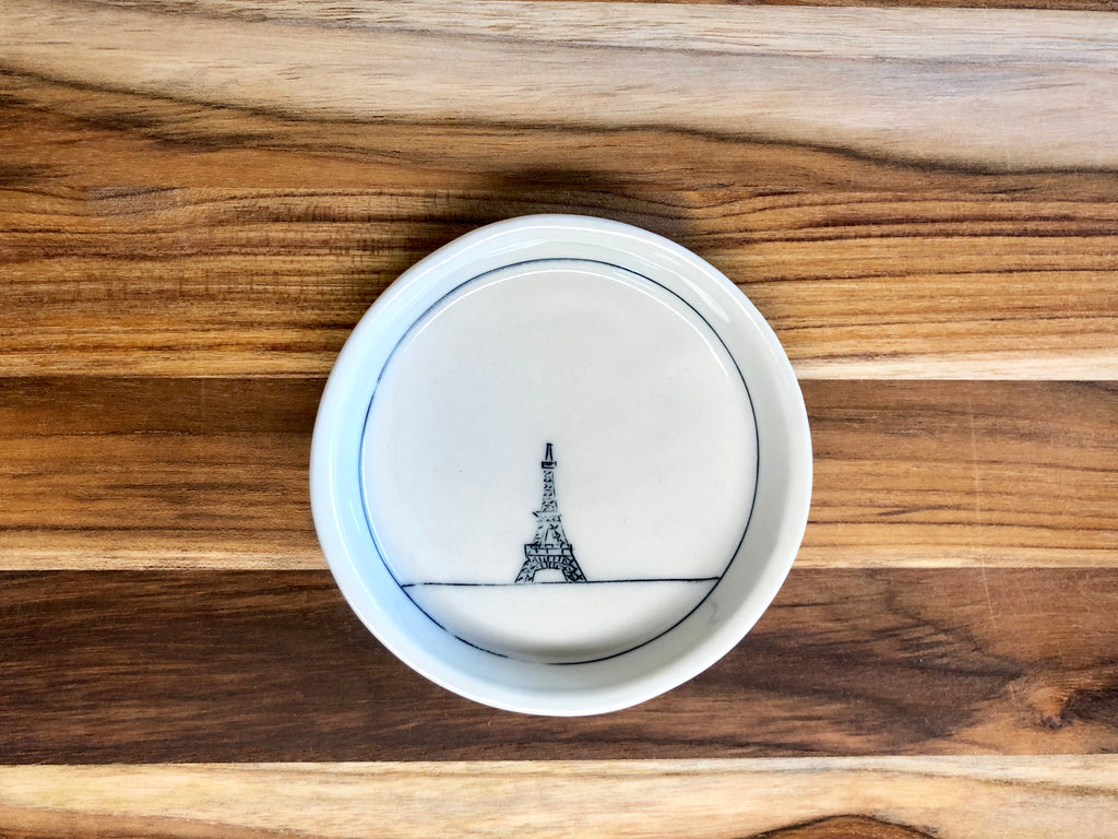 Eiffel Tower Teeny Tiny Round Dish