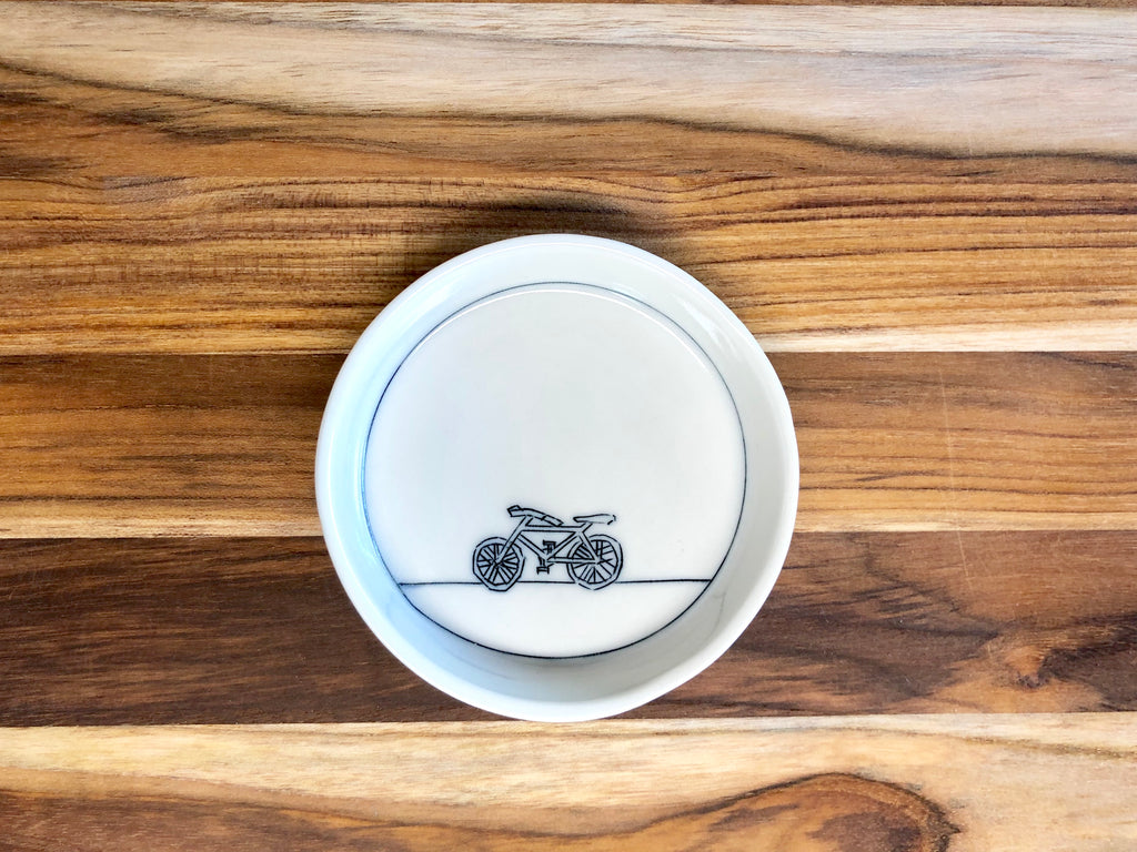 Bicycle Teeny Tiny Round Dish