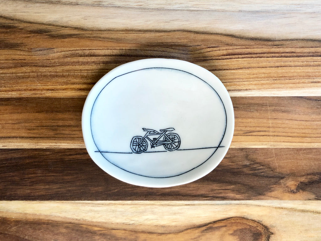 Bicycle Tiny Oval Dish