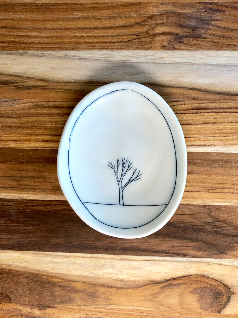 Tree Tiny Oval Dish