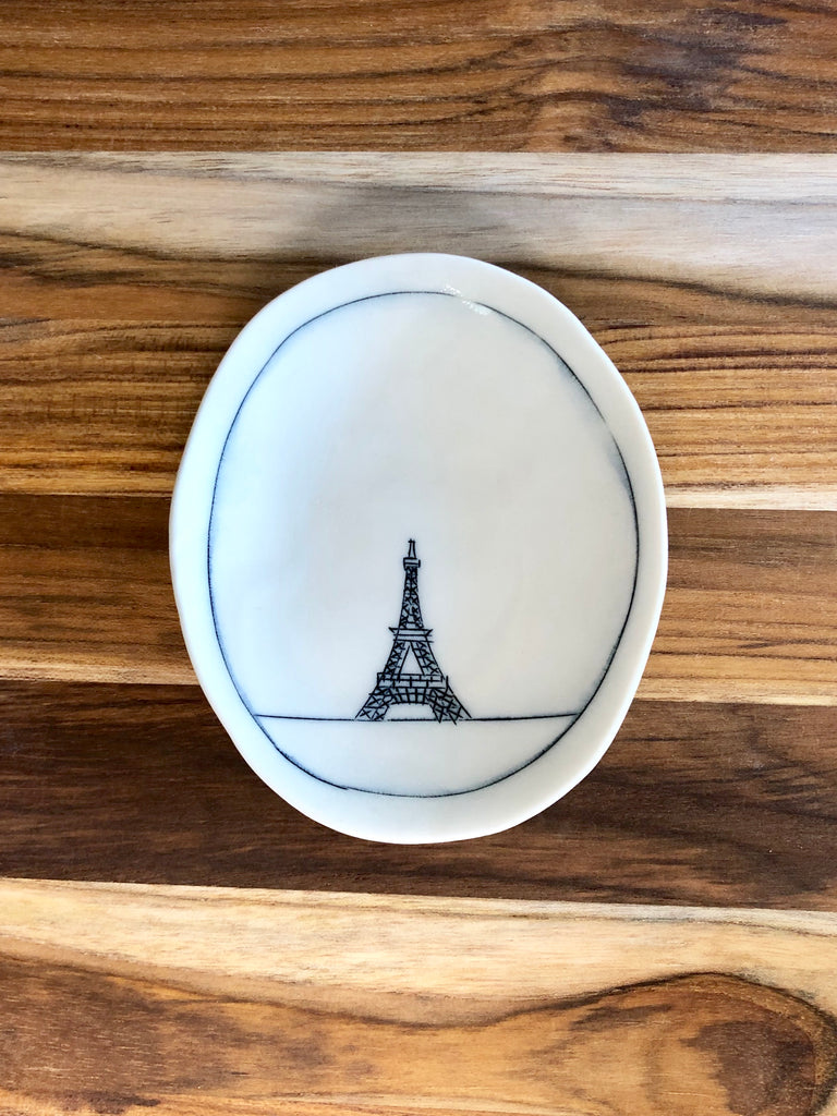 Eiffel Tower Tiny Oval Dish
