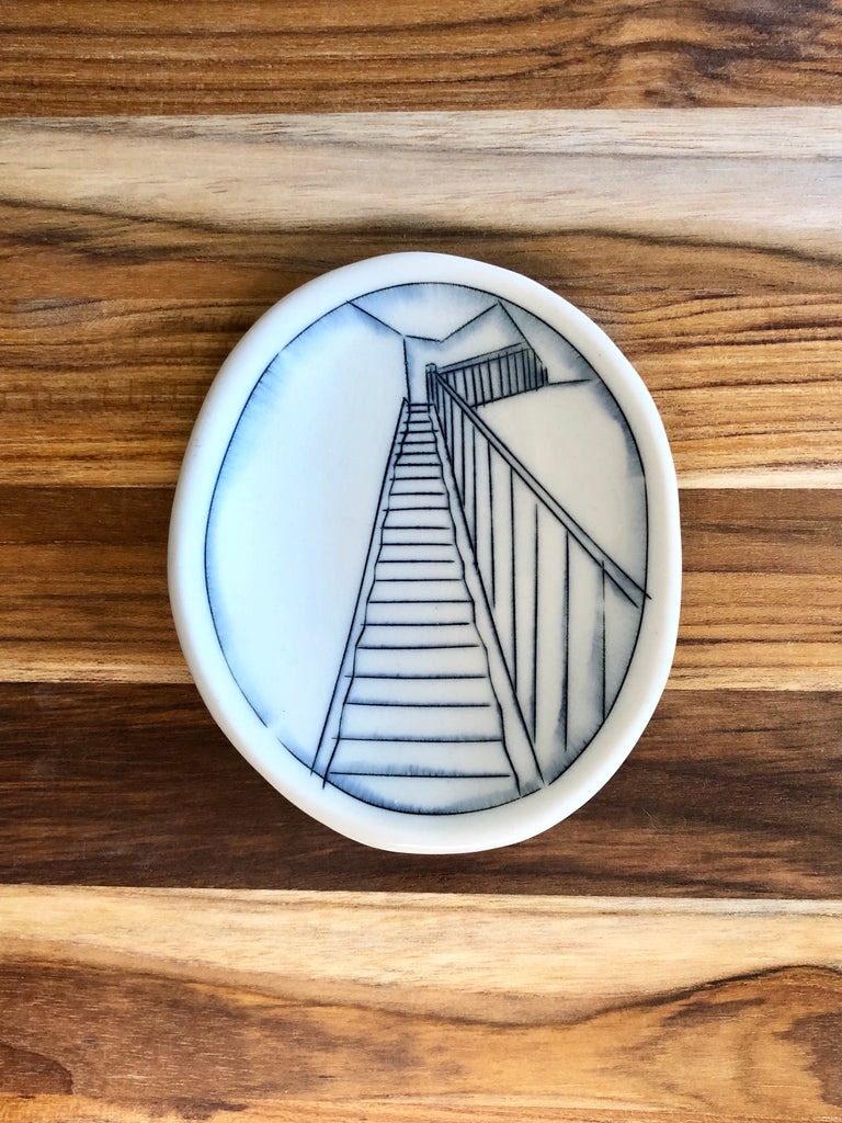 Staircase Tiny Oval Dish