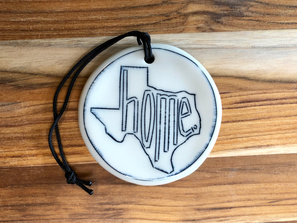 "Texas State ""home"" Ornament"