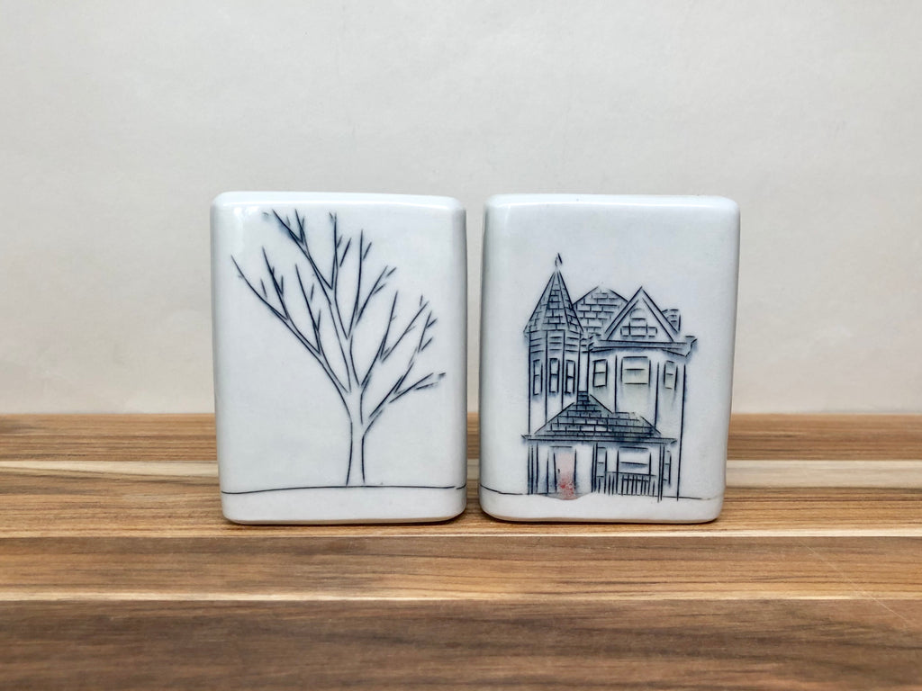 Home Light Gray Salt & Pepper Shaker Set