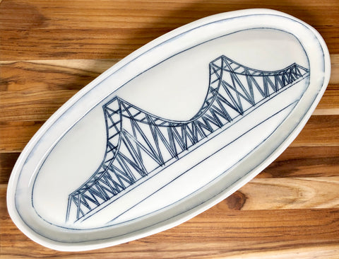 Tobin Bridge Oval Platter