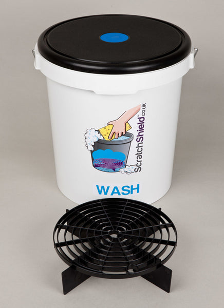 Wash Bucket with Seat Lid and Filters