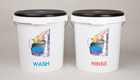 Wash & Rinse Buckets with Seat Lids