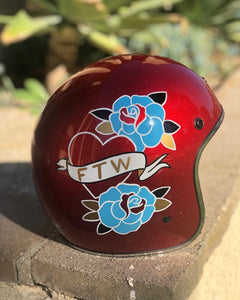 Custom Painted Kali Rava 3/4 Helmet - Size Small
