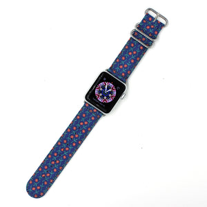 FLOWER - NAVY for 38/40mm
