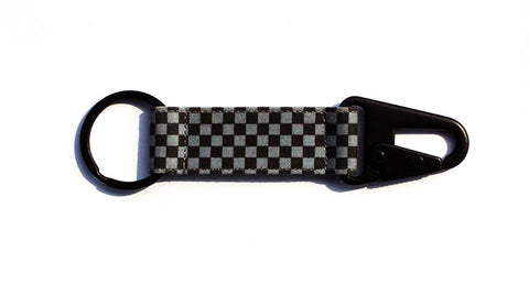Checkerboard EDC Keychain - Black/Grey