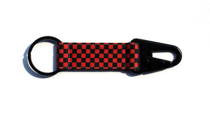 Checkerboard EDC Keychain - Black/Red