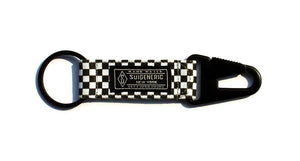Checkerboard EDC Keychain - Black/White