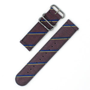 DIAGONAL STRIPE - DARKBROWN/NAVY