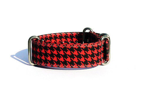 Houndstooth - Black/Red