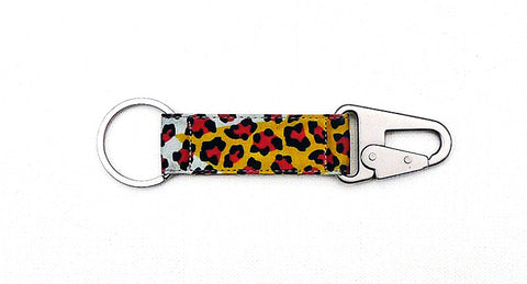 Leopard Print EDC Keychain - Multicolor