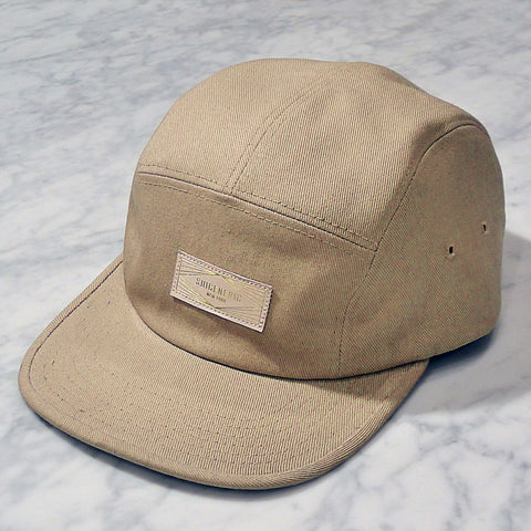 Solid 5 Panel Cap - Camel